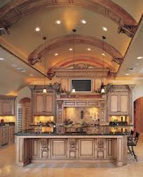 Luxury Traditional Kitchens - traditional kitchen with great detail on the barrel ceiling