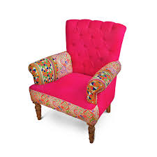 Pink Armchair Pink Embroidered Chair The Yellow Door Store