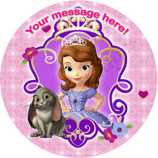sofia the cake topper sofia the personalised edible cake image 2 the monkey tree