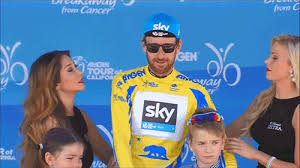 tour of california podium girls cyclist s son reacts to dad getting a kiss from multiple women on