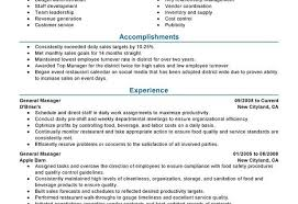 Restaurant Manager Resume Samples by Restaurant General Manager Resume 12 Phenomenal Restaurant General