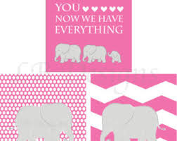 Pink Elephant Nursery Decor Pink Elephant Decor Etsy