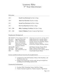Electrician Apprentice Resume Examples Resume For Apprentice Electrician Resume Examples Electrician