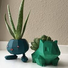3d printed pokémon planters made for turbocats photo by