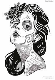 la catarina u0026 sugar skulls tattoo sketchbooks kustom kulture