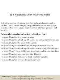 top 8 hospital cashier resume samples 1 638 jpg cb u003d1432802993