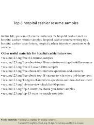 Sample Of Cashier Resume by Top 8 Hospital Cashier Resume Samples 1 638 Jpg Cb U003d1432802993