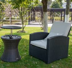 Patio Table Cooler by Amazon Com Patiopost Cool Table Pe Wicker Style Outdoor Patio
