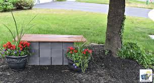 diy wood and cinder block bench