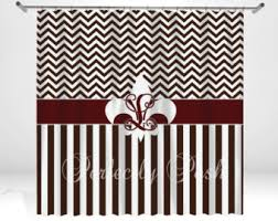 Fleur De Lis Shower Curtains Fleur De Lis Personalized Custom Shower Curtain Monogram With