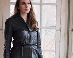 vintage leather coat etsy