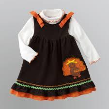 infant toddler s harvest turkey jumper dress