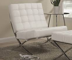 White Leather Accent Chair White Leather Accent Chair