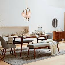 Expandable Dining Room Tables Mid Century Expandable Dining Table West Elm Throughout Dinner