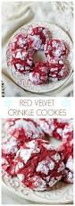red velvet crinkle cookies crunchy creamy sweet