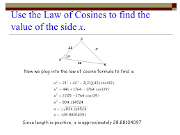 laws of sines and cosines ppt
