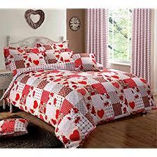 home bedding store red patchwork bedding duvet cover set king