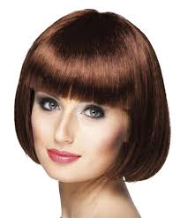 1920s chocolate brown bob wig womens ladies flapper gatsby