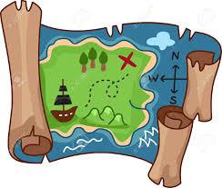 Treasure Map Blank by Treasure Clipart Scroll Pencil And In Color Treasure Clipart Scroll