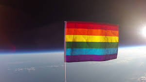 Rainbow Pride Flag Activists Launch A Pride Flag Into Space To U0027claim U0027 It For Lgbt