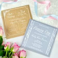 Personalised Christening Invitation Cards Engraved Square Acrylic Christening Invitations Engraved