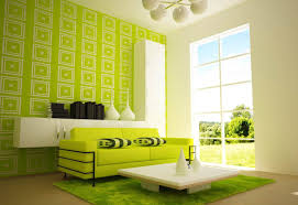 living room color combination green