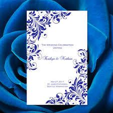 how to print wedding programs wedding program template kaitlyn royal blue order