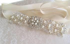 wedding sash silver wedding sash bridal belt rhinestone wedding dress sash
