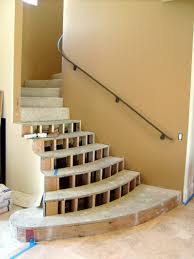 decorating non slip stair treads with stone for home interior