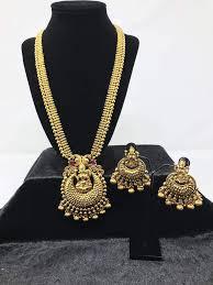 indian necklace sets images Antique gold long sets indian jewelry sets temple jewelry sets jpg
