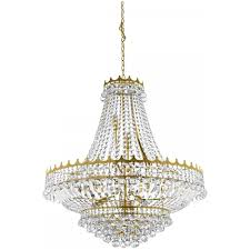 versailles chandelier searchlight versailles classic crystal chandelier in gold finish