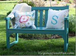 garden bench makeover sweet pea