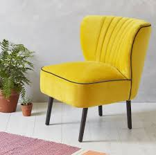 yellow velvet mid century cocktail chair by fern u0026 grey