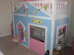 Castle Bunk Beds For Girls by Finished Playhouse Loft Bed Kids Daughters Pinterest