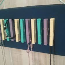 display holder necklace images Diy necklace holder with close pins jewelry stoage pinterest jpg