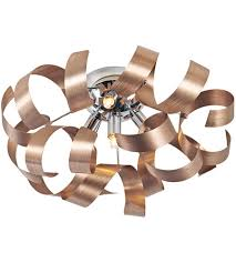 copper flush mount light artcraft ac604co bel air 4 light 19 inch brushed copper flush mount