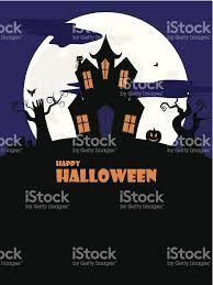 halloween spooky house portrait stock vector art 505399837 istock