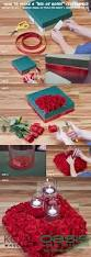 how to make a bed of roses floating candle centerpiece inspired