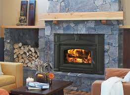 traditional design living room with quadra fire voyageur fireplace