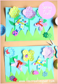 how to make a 3d spring picture spring crafts crafts spring