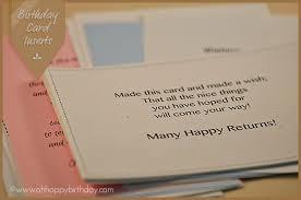 birthday card inserts