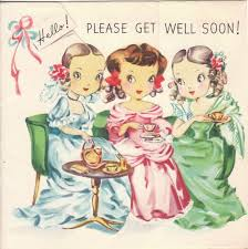 110 best get well images on vintage greeting cards
