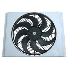 electric radiator fans and shrouds mustang electric fan 16 2500cfm with aluminum fan shroud 1967 1970