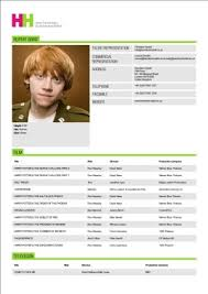 Actors Resume Template Luxury Inspiration Child Actor Resume 10 Acting Resume Templates
