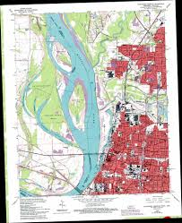 Map Of Memphis Tennessee by Northwest Memphis Topographic Map Tn Ar Usgs Topo Quad 35090b1