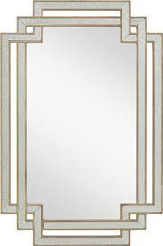 Hayworth Mirrored Chest Silver by Ideas Hayworth Mirror