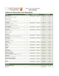 Free Home Design Software With Cost Estimate by Brilliant Bathroom Remodel Estimate Example Checklist Within Home