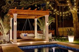 Swing Pergola by 5 Ways To Enliven Your Yard For Winter Hgtv U0027s Decorating