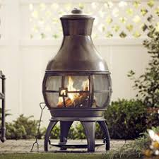Chiminea Outdoor Fireplace Clay - shop fire pits u0026 patio heaters at lowes com
