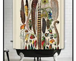 Shower Curtains With Birds Bird Shower Curtain Etsy